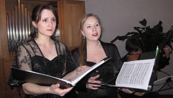 Ausdrucksstarke Stimmen: Die beiden Sopranistinnen Marie-Thérèse Albert (links) und Pauline Persoud.