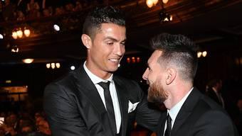 Cristiano Ronaldo und Lionel Messi trafen sich vor kurzem bei der Auslosung der Champions-League-Gruppenphase