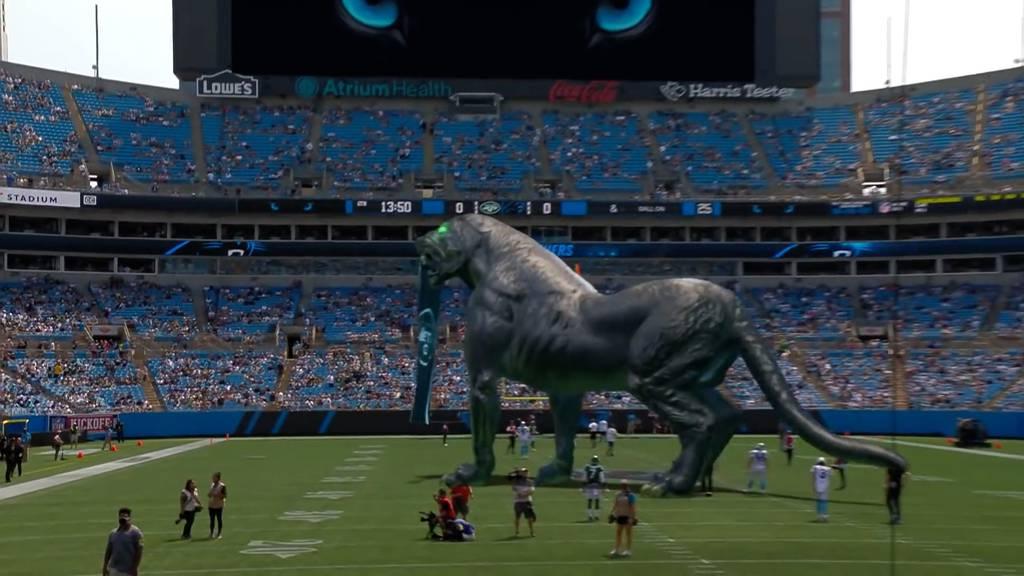 Riesiger Panther in NFL-Stadion – Mixed Reality macht es möglich
