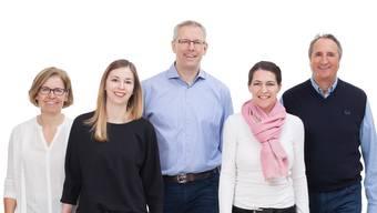 Kandidaten FDP Starrkirch-Wil für die Gemeinderatswahlen vom 20. Mai 2017 (vl.): Lucia Kaiser, Pascale Birchmeier, Christian Bachofner, Mirjam Jäger und Felix Hug.