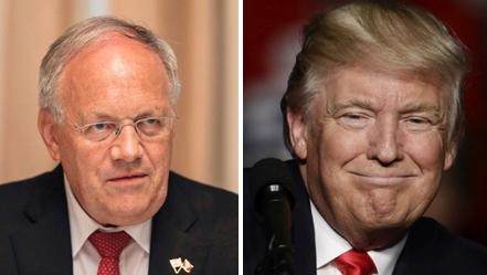 Der Schweizer Bundespräsident Johann Schneider-Ammann telefonierte am Mittwochnachmittag mit dem designierten US-Präsidenten Donald Trump (rechts).