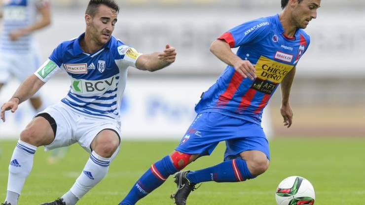Andrea Maccoppi (rechts) spielt künftig für Lausanne-Sport