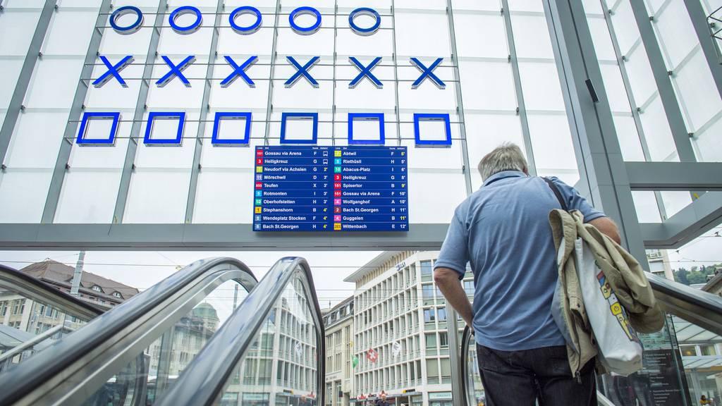 Die neue Ankunftshalle am Bahnhof St.Gallen.