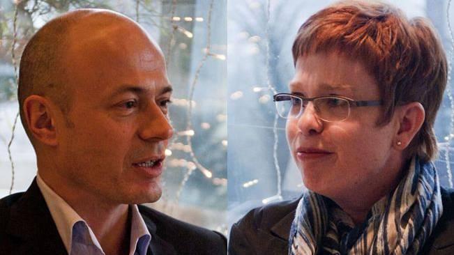 Peter Courvoisier (FDP) und Ruth Müri (team)