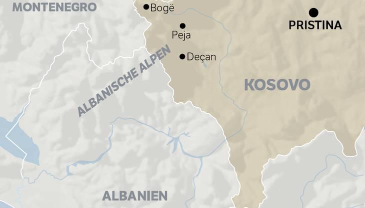 Karte von den «albanischen Alpen»