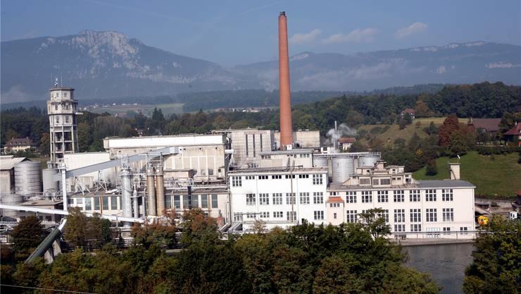 Die Neunutzung des Borregaard-Fabrikareals nördlich der Aare soll durch die Biogen-Ansiedlung beflügelt werden. Archiv/BAR
