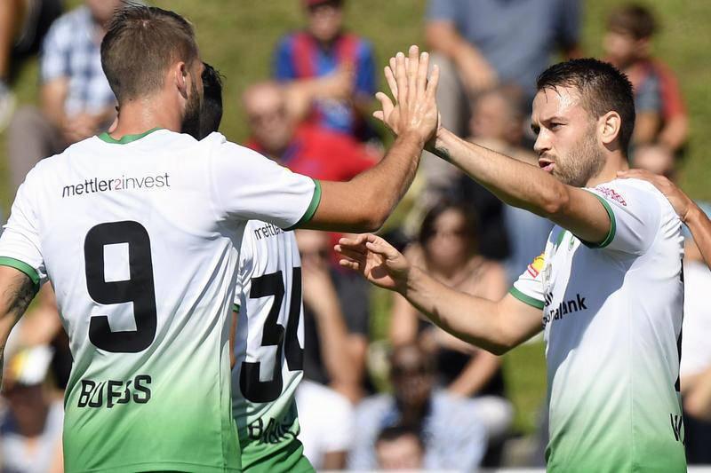 Der FC St.Gallen gegen den FC Baden (© Tagblatt)
