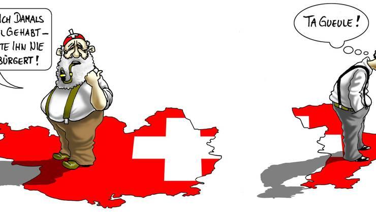 (Karikatur: Silvan Wegmann)