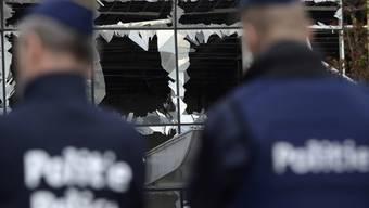 Belgische Polizisten am Brüsseler Flughafen Zaventem nach den Anschlägen im März. (Archiv)