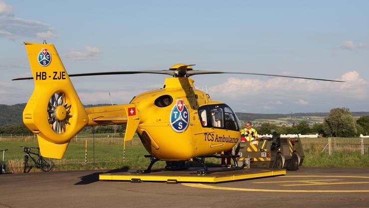 Der TCS-Heli fliegt auch ohneTCS-Logo weiter. Claudia Meier