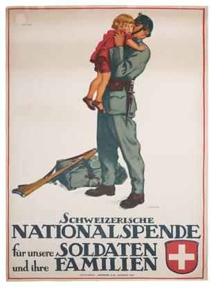 Die Schweizer Soldaten mussten im Ersten Weltkrieg durchschnittlich 500 Tage Dienst an der Grenze leisten. Weil sie keine Entlohnung erhielten, drohte nach dem Krieg das Elend.