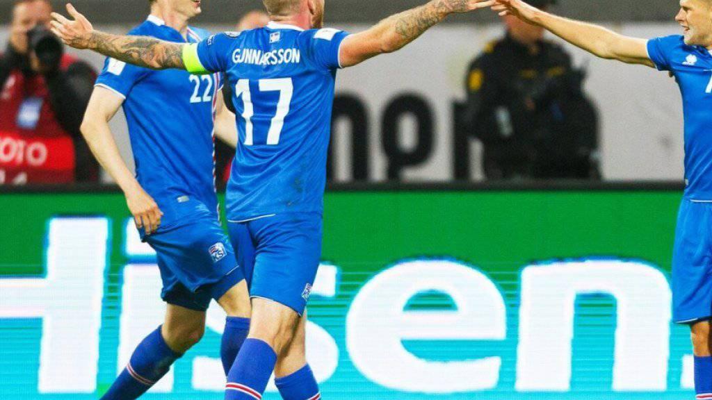 Noch ein Sieg fehlt den Isländern um erneut Fussballgeschichte zu schreiben