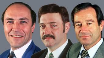 Luzi Stamm, Ulrich Giezendanner und Maxmilian Reimann im Jahr 1995