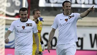 Sowohl Alex Frei (l.) als auch Marco Streller trafen für den FCB.