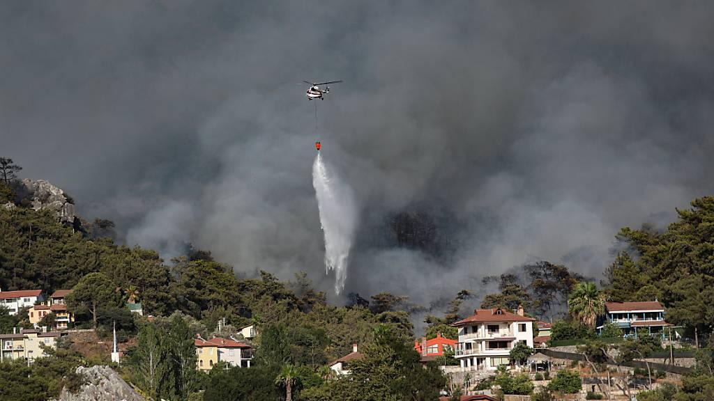 Die Brände in der Türkei und in Griechenland dauern an. Die östlichen Mittelmeer-Länder leiden seit Wochen unter einer grossen Hitzewelle.