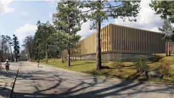 So sieht das Büro Kim Strebel Architekten den Neubau der Hochschule für Magglingen vor. zvg/Kim Strebel Architekten