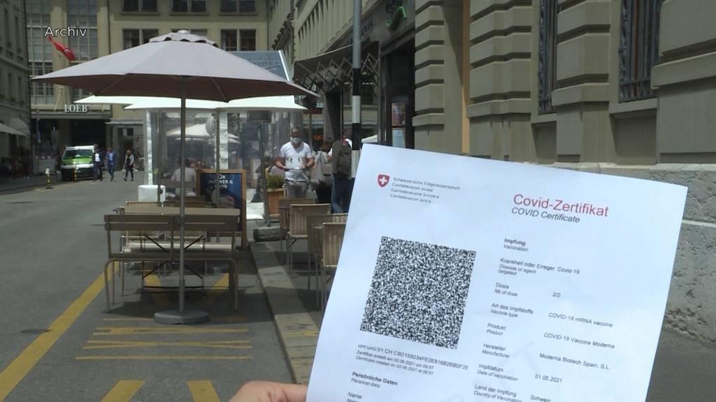 Kanton Bern fordert einheitliche Regelung für Covid-Zertifikat