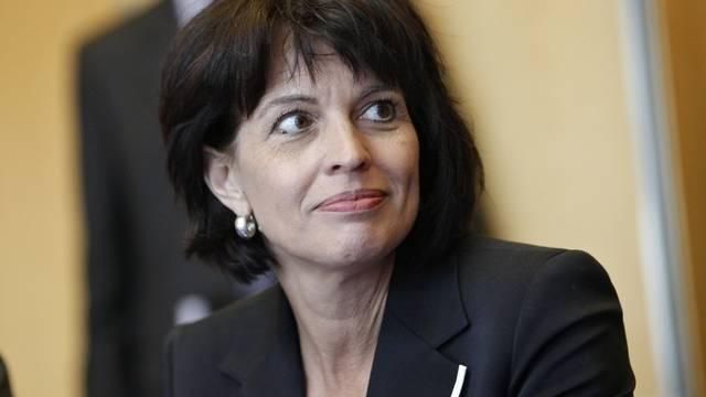 Die UVEK-Vorsteherin Doris Leuthard in Paris.
