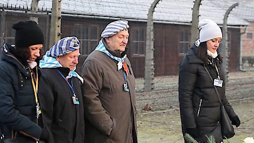 Gedenken an Holocaust in Auschwitz