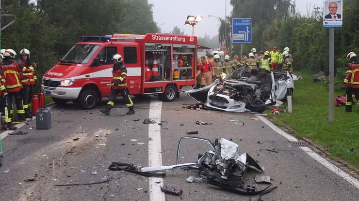 In Ehrendingen verursachte eine betrunkene Autofahrerin einen schweren Unfall.