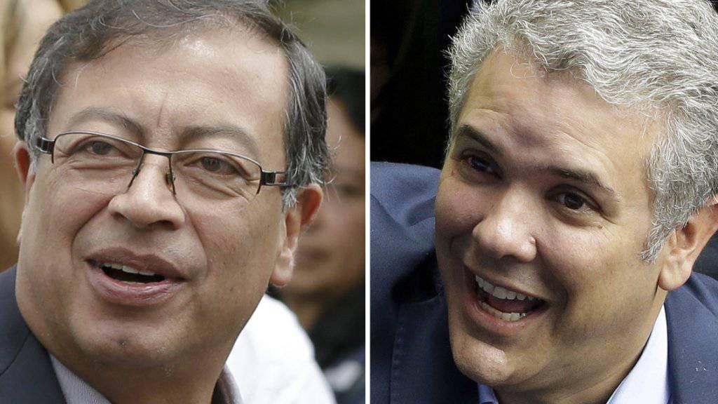Petro oder Duque: Die Kolumbianer müssen sich am heutigen Sonntag in einer Stichwahl für einen neuen Präsidenten ihres Landes entscheiden.