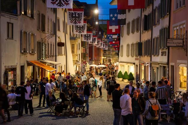 Tolle Abendstimmung in der Altstadt.