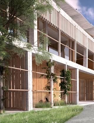 Soll soll das neue Universitäts-Kinderspitals in Zürich Lengg einst aussehen: Der Eingangsbereich.