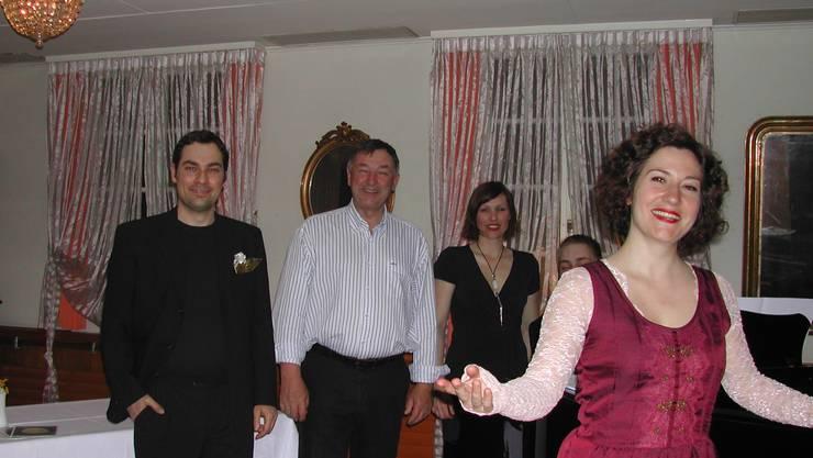 Musik und Gesang aus «Frau Luna» an der Vereinsversammlung.