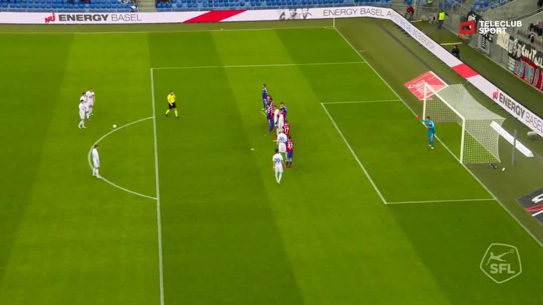 6. Minute: Schuss von Olivier Custodio (FC Luzern)