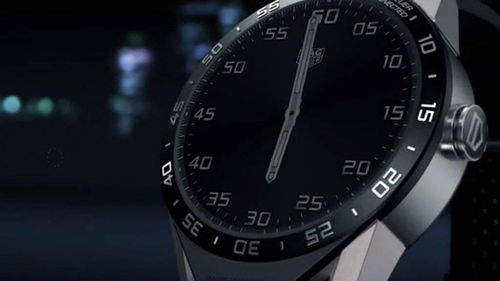 Die neue Smartwatch der Schweizer Uhrenmarke TAG Heuer.