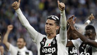 Cristiano Ronaldo (im Bild) will mit Juventus den Meistertitel auf dem Rasen verteidigen