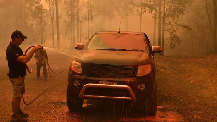 Flammeninferno in der Nähe von Sydney
