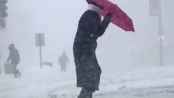 """Wintersturm """"Stella"""" hat nun auch den Osten Kanadas erreicht und weitgehend lahmgelegt."""