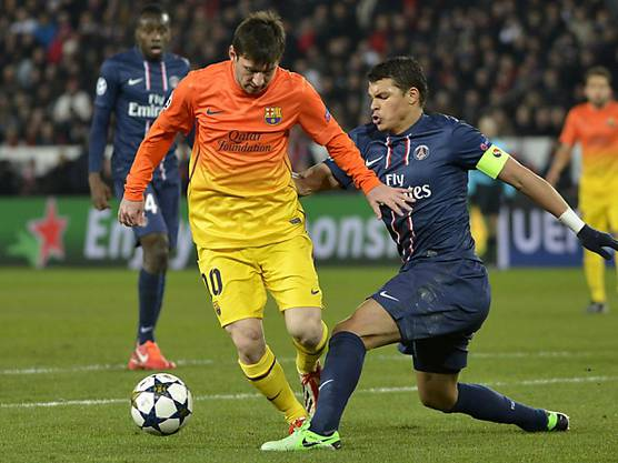 Lionel Messi gegen Thiago Silva