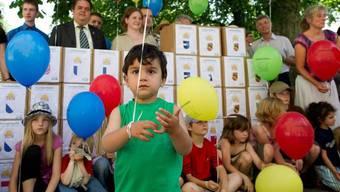 Bei der Einreichung der Initiative am 12. Juli 2011 (Archiv)