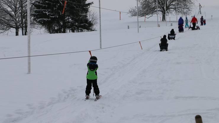 Der Skilift ist seit diesem Montag in Betrieb