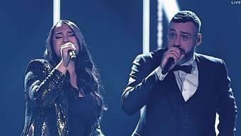 Freschta Akbarzada sang mit Rapper Sido ihren eigenen Song. (Bild: Screenshot/Sat1)