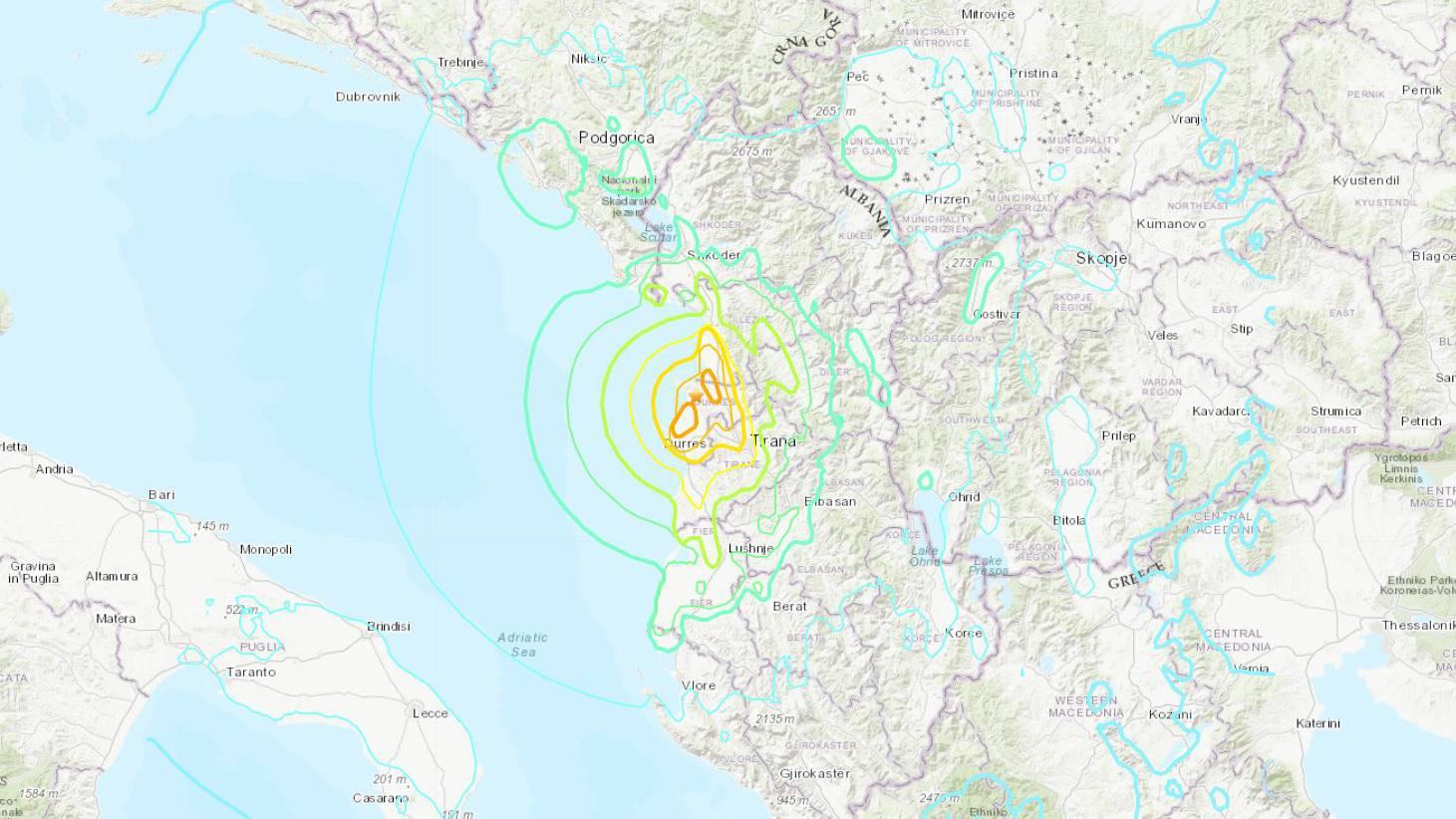 Tote und Verletzte bei Erdbeben in Albanien