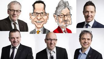 Die Solothurner Ständeräte und Nationalräte, die weiter im Bundeshaus arbeiten wollen.