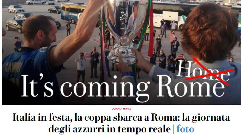 «It's coming Rome», titelt die Repubblica heute.