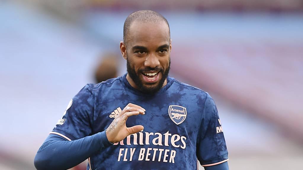 Alexandre Lacazette sorgte dafür, dass es für Arsenal doch noch einen Punkt gab.