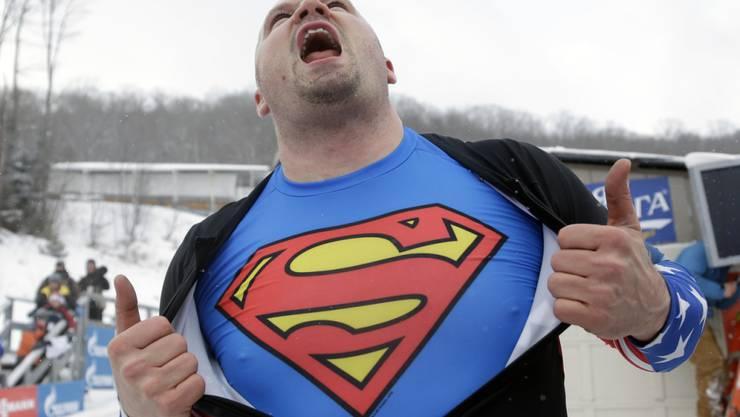 Kein Superman, sondern ein Mensch mit inneren Dämonen: Holcomb nach seinem Weltcupsieg 2013 in Lake Placid