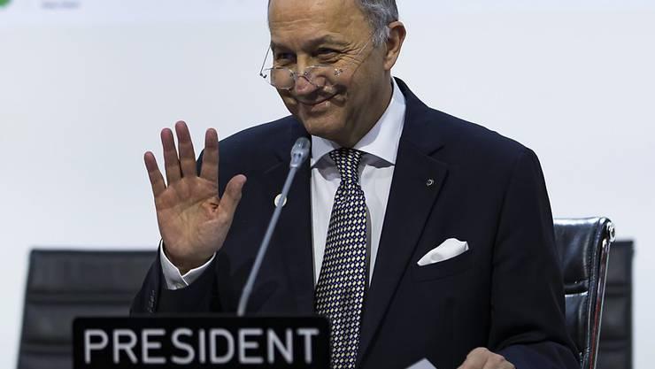 Frankreichs Aussenminister Fabius war der Konferenzchef der Klimatagung in Paris. (Archiv)