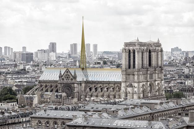 Entwurf von Godart & Roussel Architects für den Wiederaufbau von Notre Dame in Paris