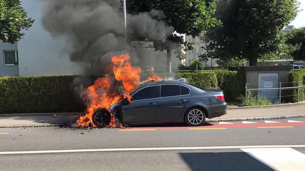 BMW fackelt nach technischem Defekt ab
