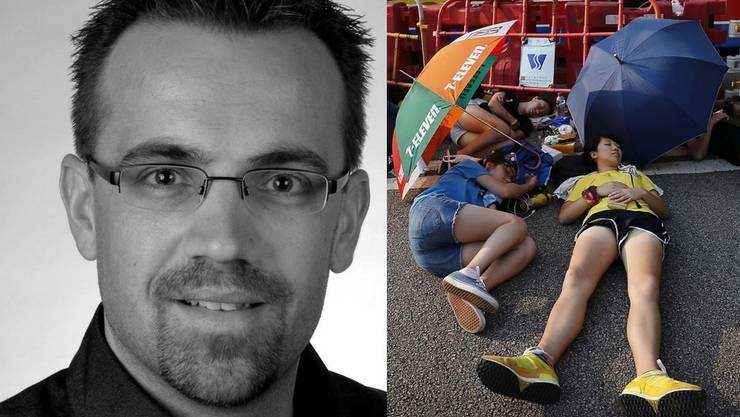 Ein Aargauer erzählt, wie er die Proteste in Hongkong derzeit erlebt.