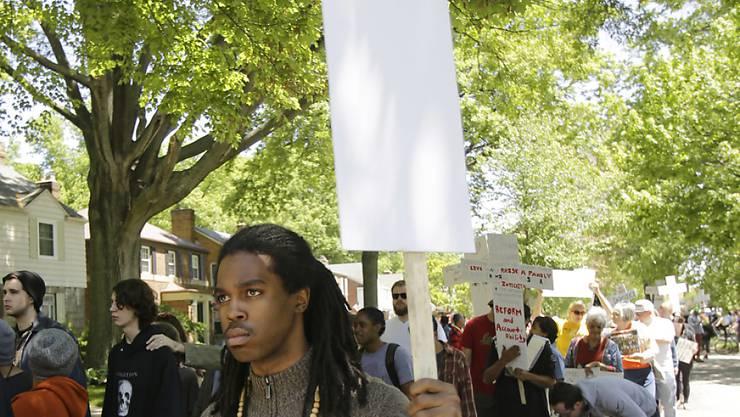 Demonstranten nach dem umstrittenen Freispruch des Polizisten Michael Brelo in Cleveland