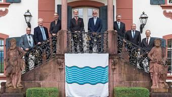 Die Ammänner der Gemeinden, die sich zur neuen Ortschaft «Zurzach» zusammenschliessen.