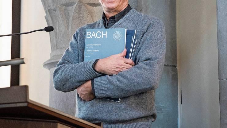 Predigt mit Bach: Stephen Smith auf der Kanzel der Matthäuskirche Luzern.