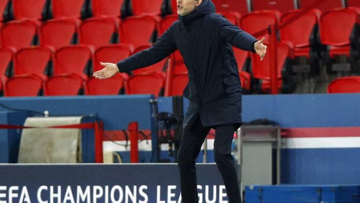PSG-Trainer Thomas Tuchel Ende November im Champions-League-Gruppenspiel gegen Leipzig